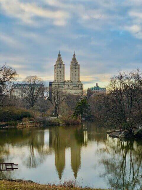 Photo of Central Park and pond.